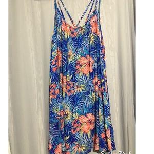Flowing floral dress